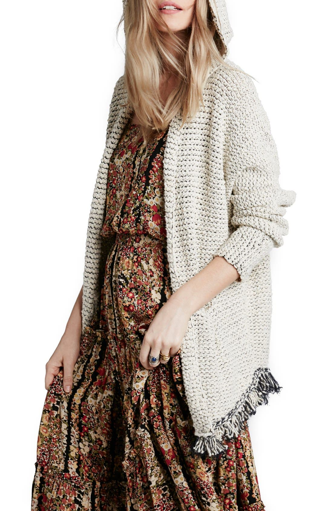 Alternate Image 1 Selected - Free People 'Love Me Tender' Fringe Cardigan