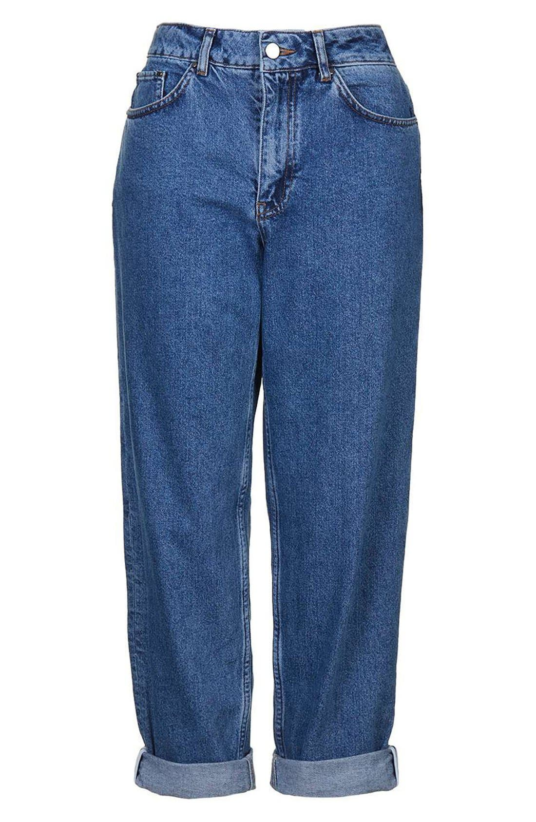 Alternate Image 4  - Topshop Boutique High Rise Relaxed Boyfriend Jeans