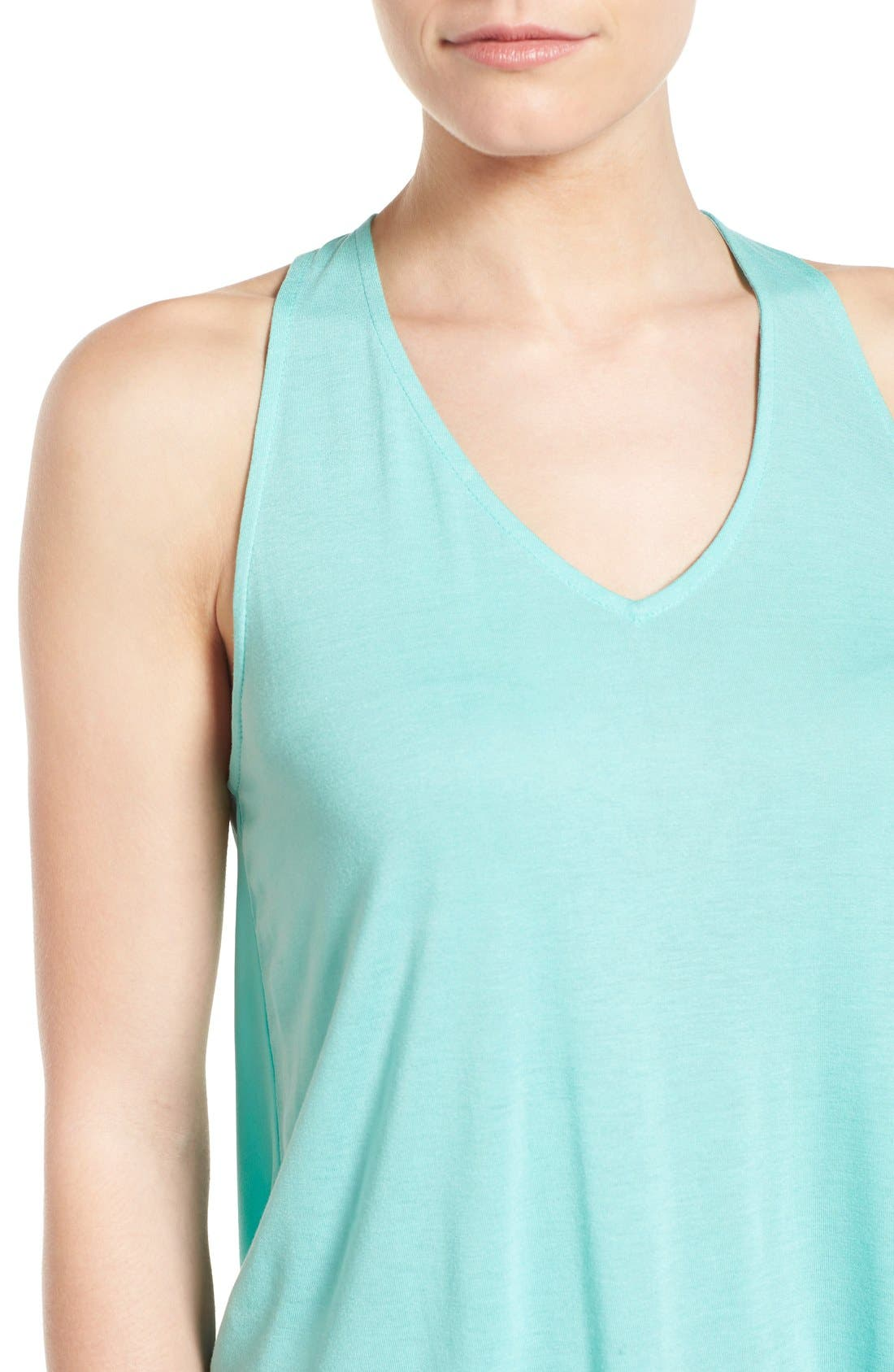 Alternate Image 4  - Halogen® Mixed Media Racerback Tank (Regular & Petite)