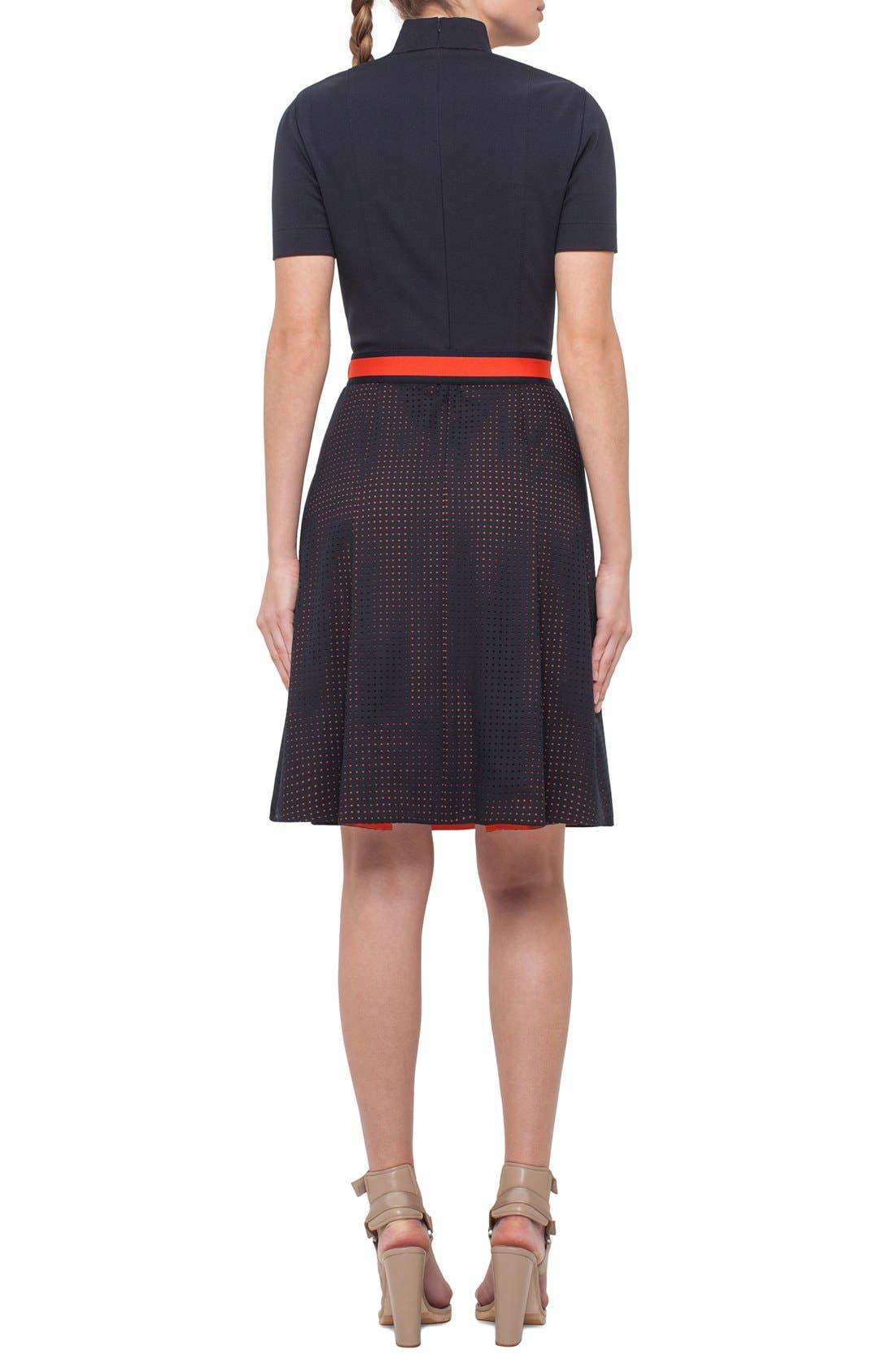 Alternate Image 2  - Akris punto Perforated Shirt Dress