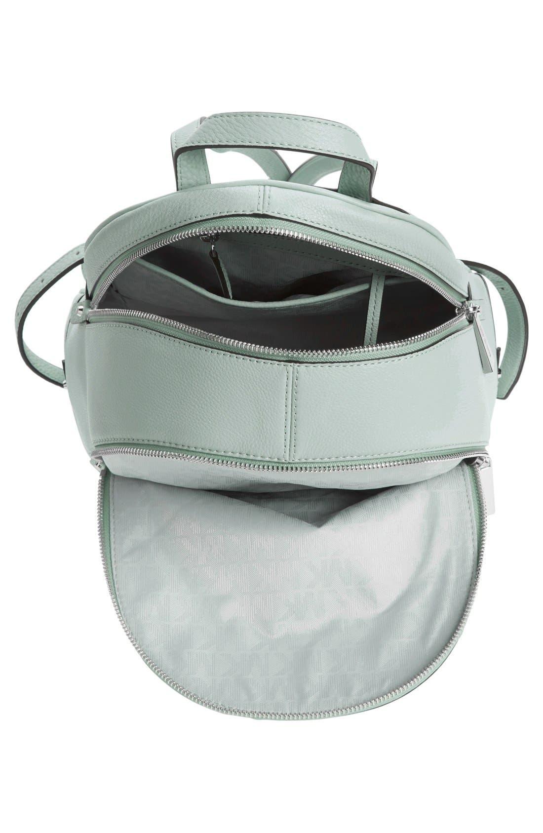 Alternate Image 4  - MICHAEL Michael Kors 'Small Rhea Zip' Leather Backpack