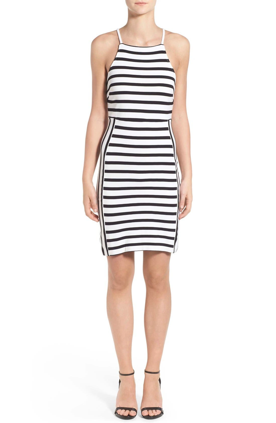 Main Image - cupcakes and cashmere 'Elliot' Stripe Body-Con Dress