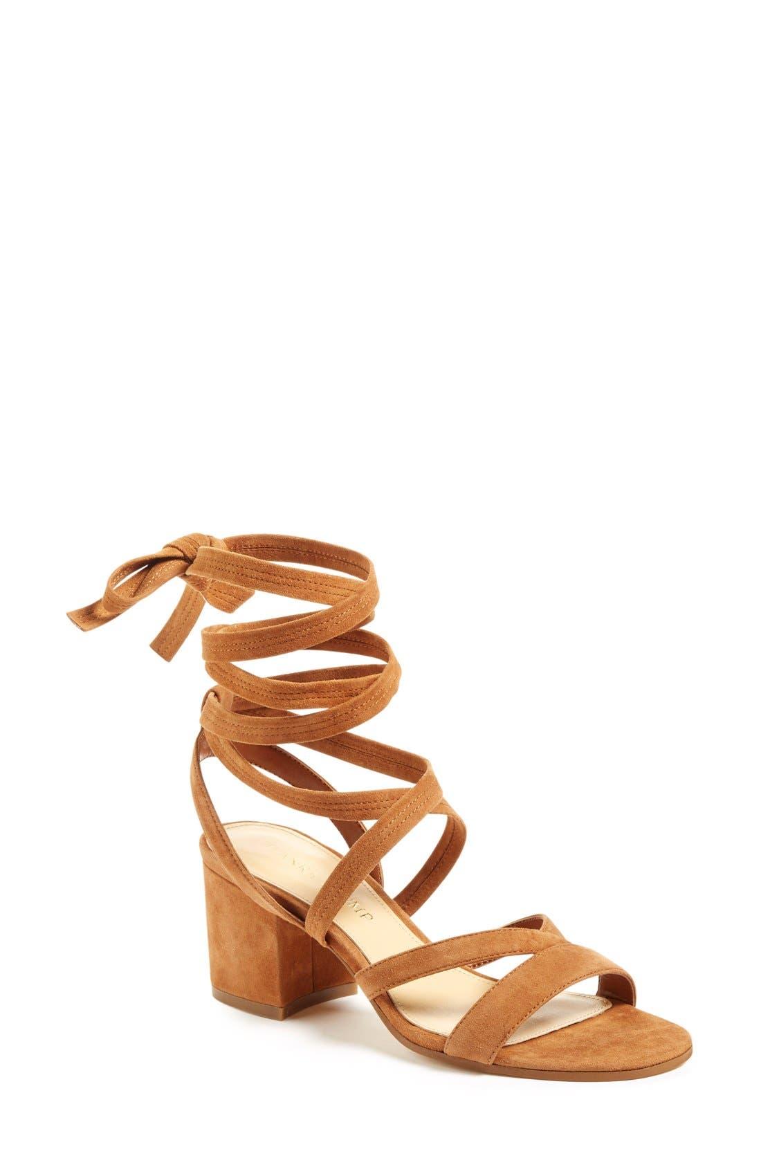 Main Image - Ivanka Trump 'Ellyn' Lace-Up Sandal (Women)