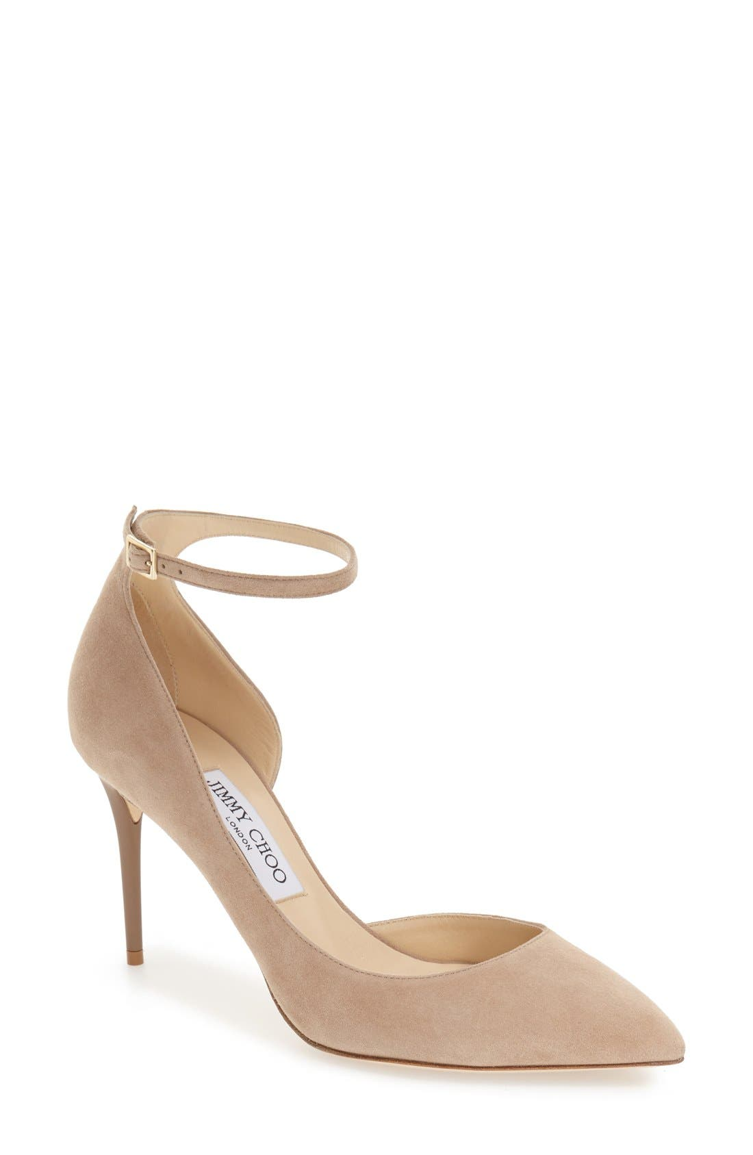 Jimmy Choo 'Lucy' Half d'Orsay Pointy Toe Pump (Women)