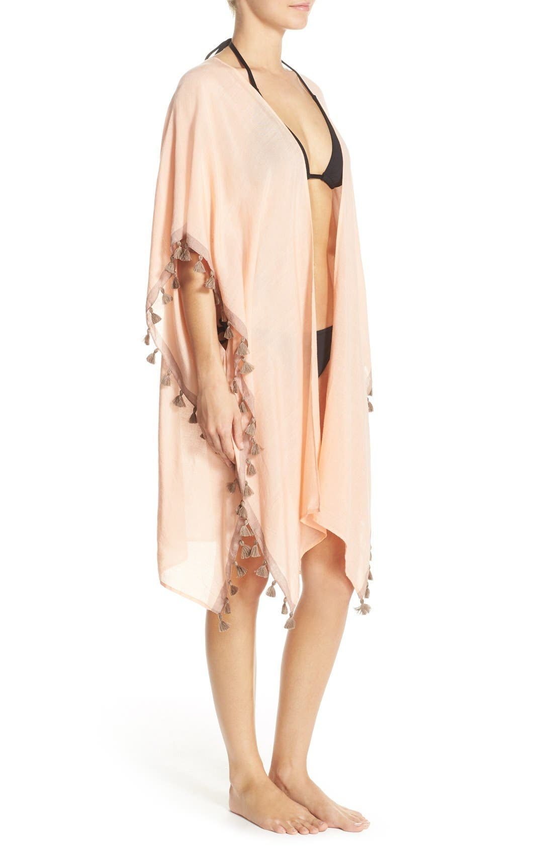 Alternate Image 3  - ale BY ALESSANDRA 'Mother Earth' Tassel Trim Cover-Up Kimono