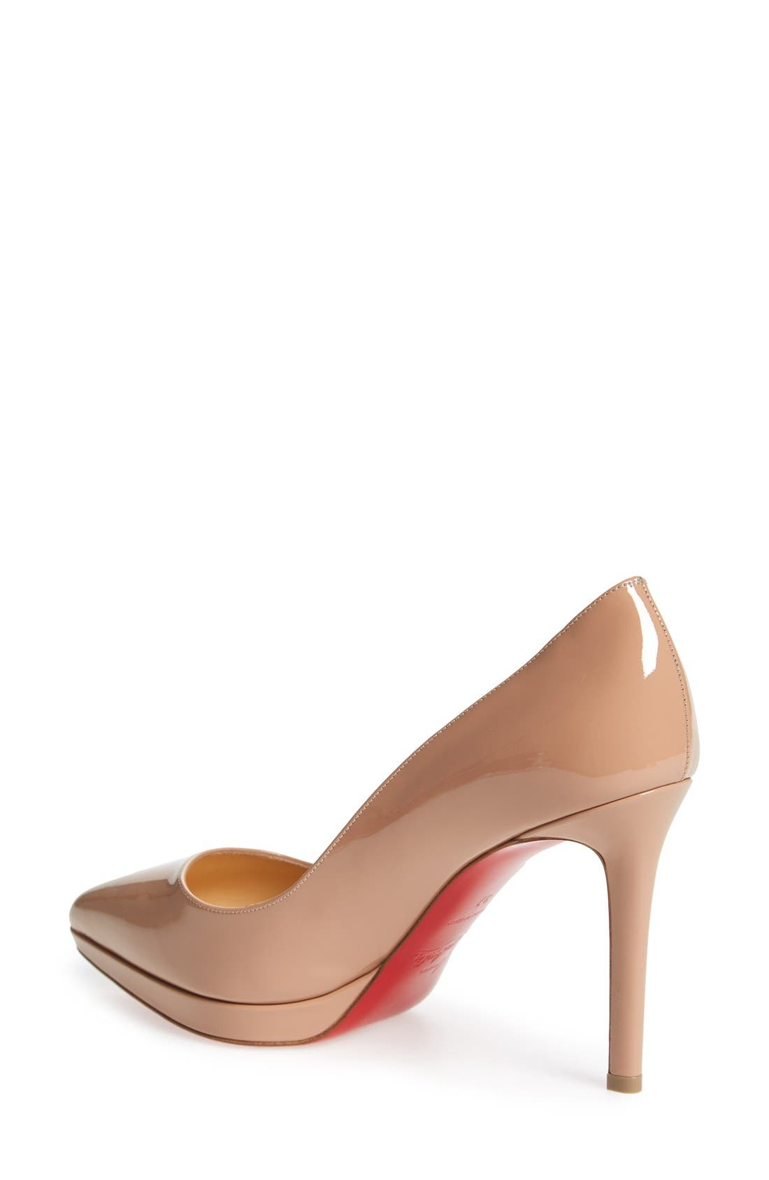 Alternate Image 2  - Christian Louboutin Pigalle Plato Pointy Toe Platform Pump