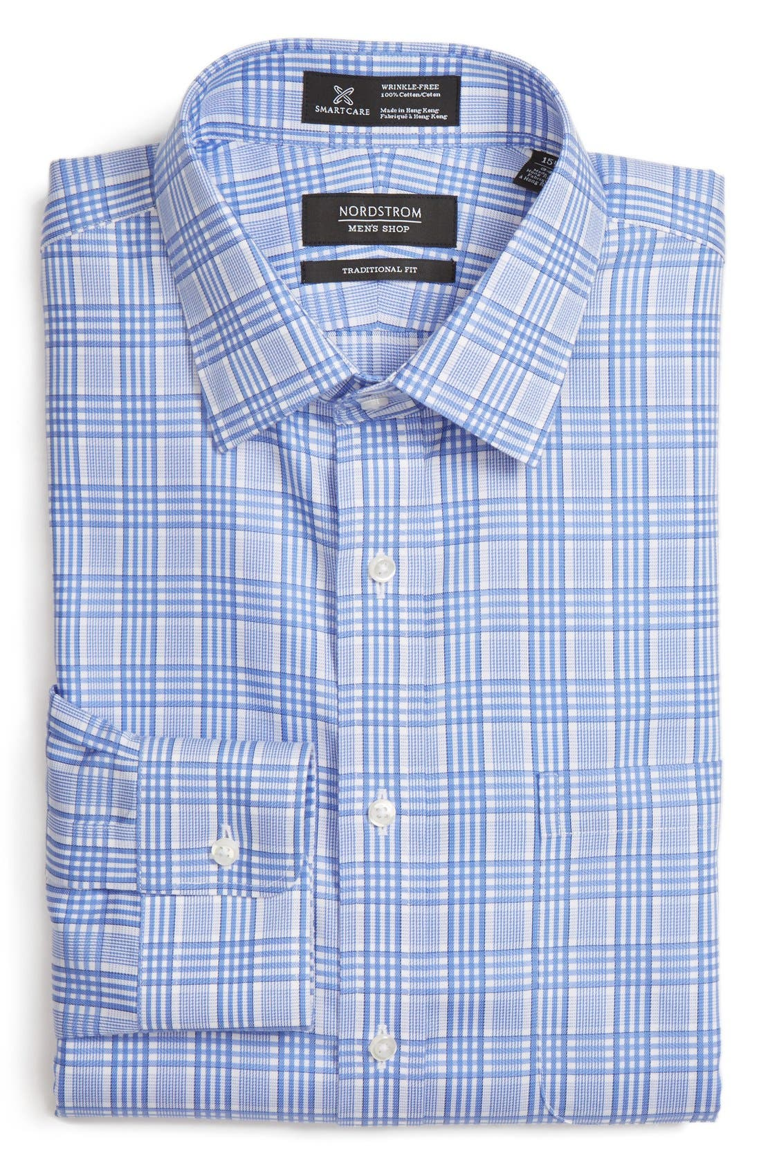 NORDSTROM MEN'S SHOP Smartcare™ Traditional Fit Check Dress