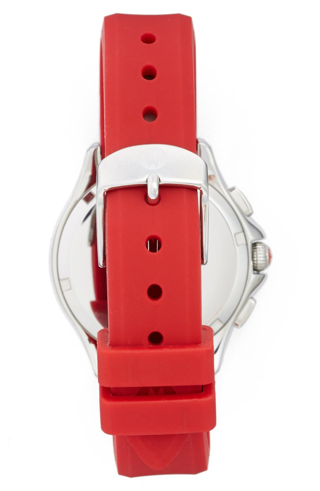 Alternate Image 2  - MICHELE Cape Chronograph Silicone Strap Watch, 34mm