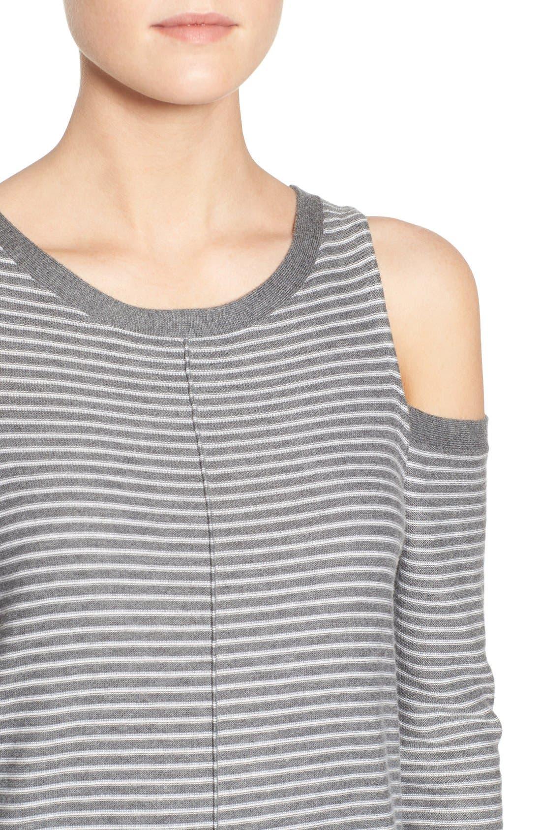 Alternate Image 4  - Trouvé Cold Shoulder Sweater
