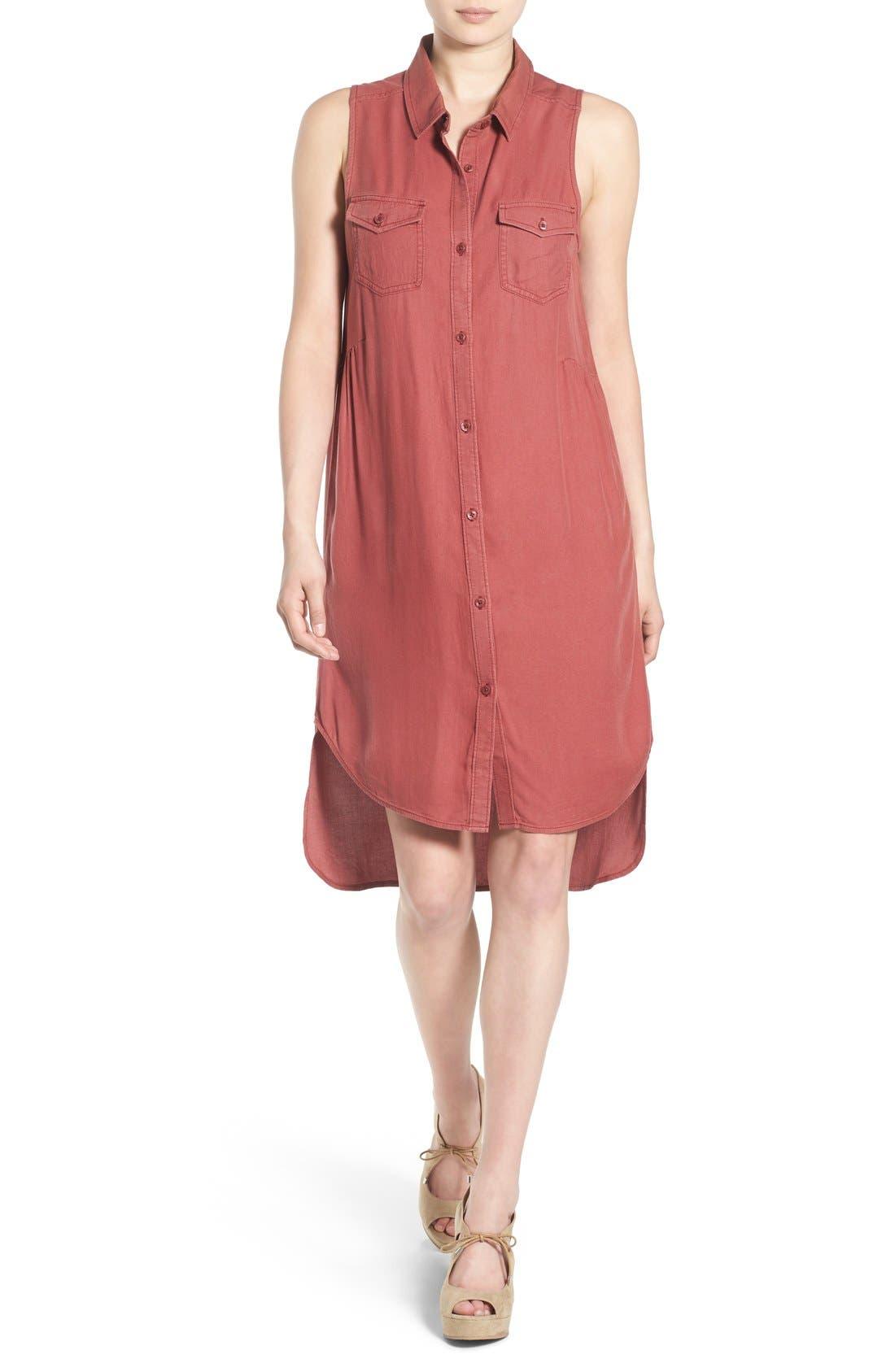 Alternate Image 1 Selected - BP. Sleeveless Woven Shirtdress