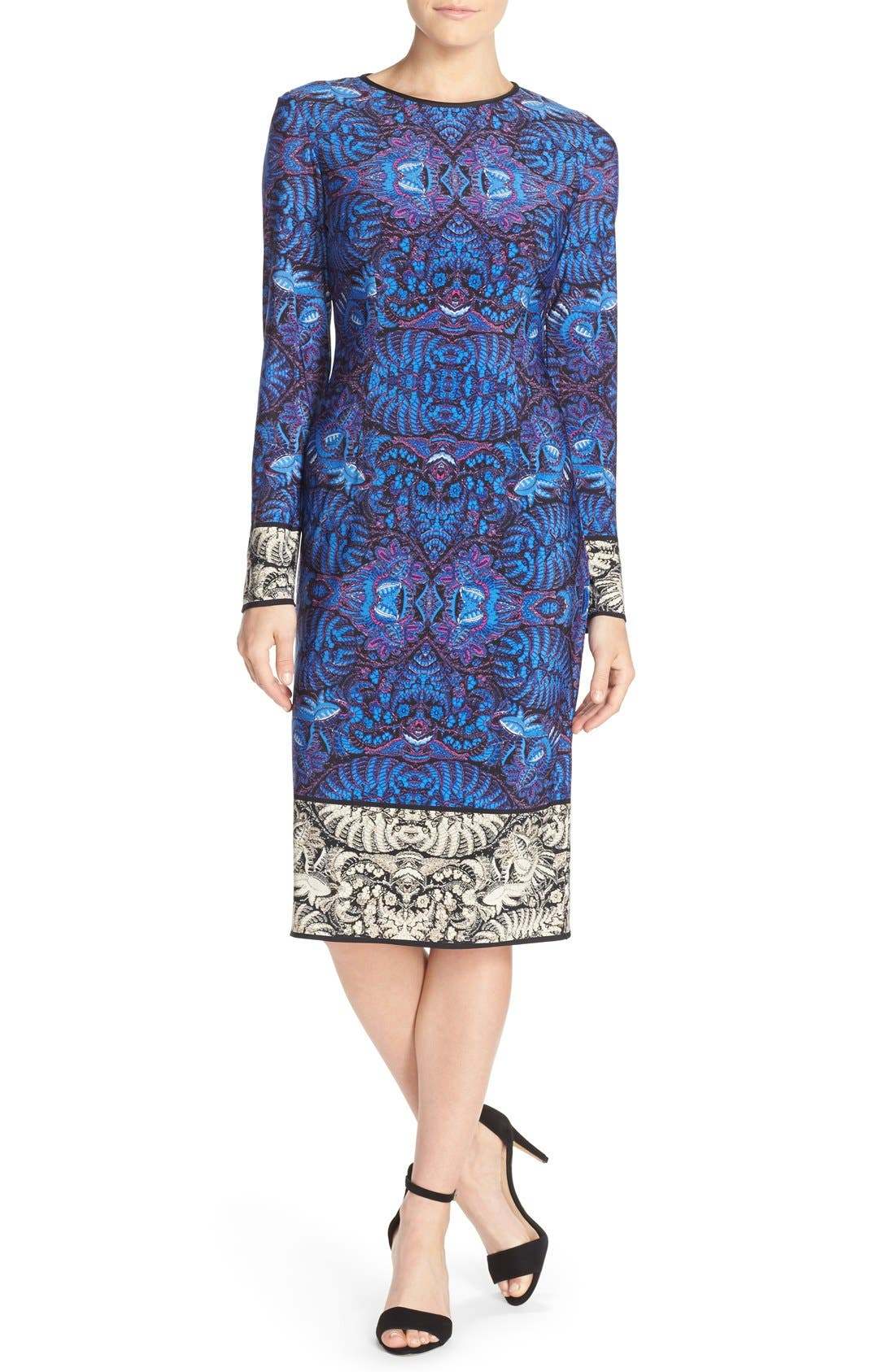 Alternate Image 1 Selected - Maggy London Print Jersey Sheath Dress