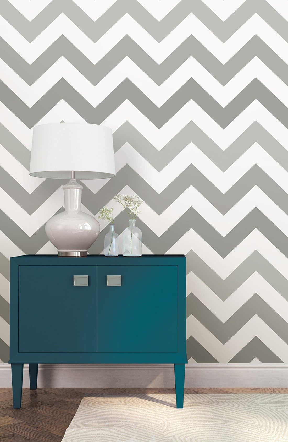 Alternate Image 2  - Wallpops 'Zig Zag' Reusable Peel & Stick Vinyl Wallpaper