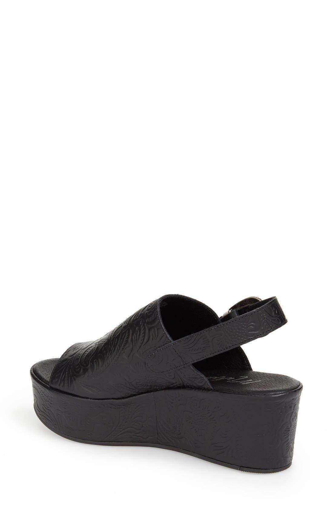 Alternate Image 2  - Matisse Embossed Slingback Platform Sandal (Women)