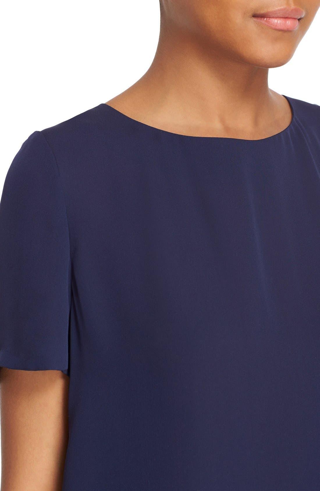 Alternate Image 4  - Diane von Furstenberg 'Maggy' Short Sleeve Button Back Silk Blouse