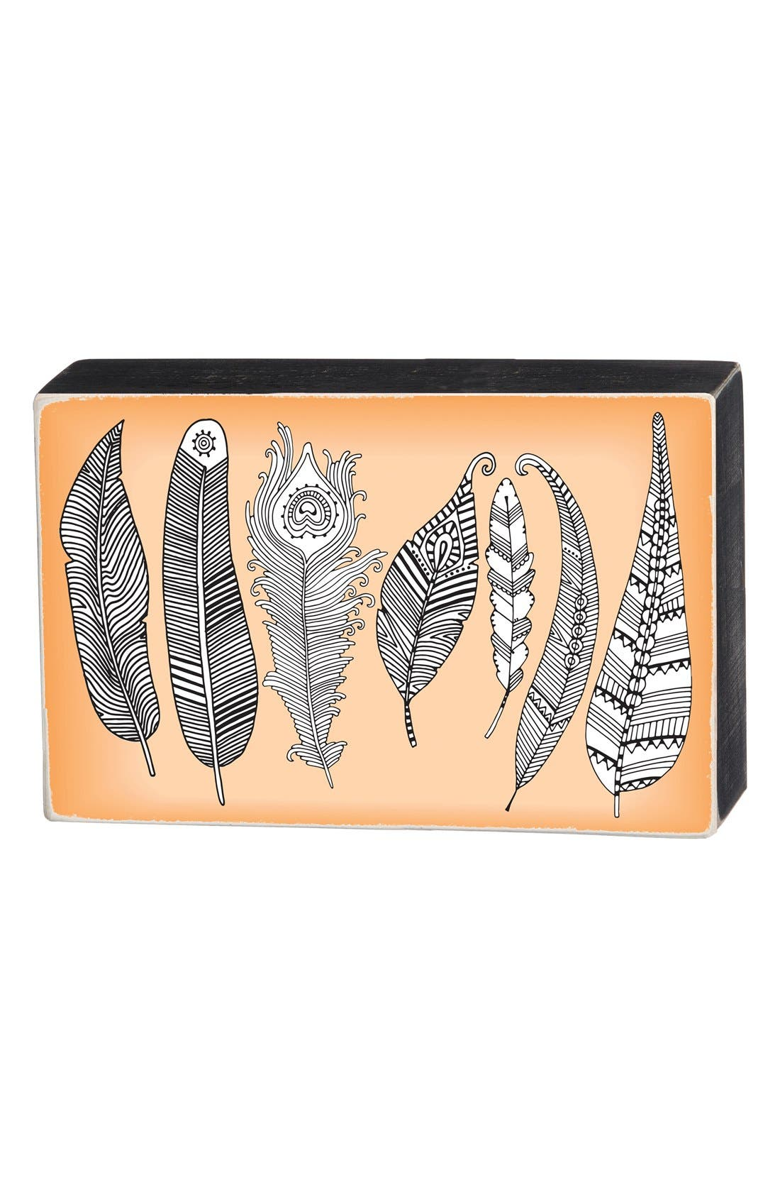 Primitives by Kathy 'Color Your Own - Feathers' Box Sign