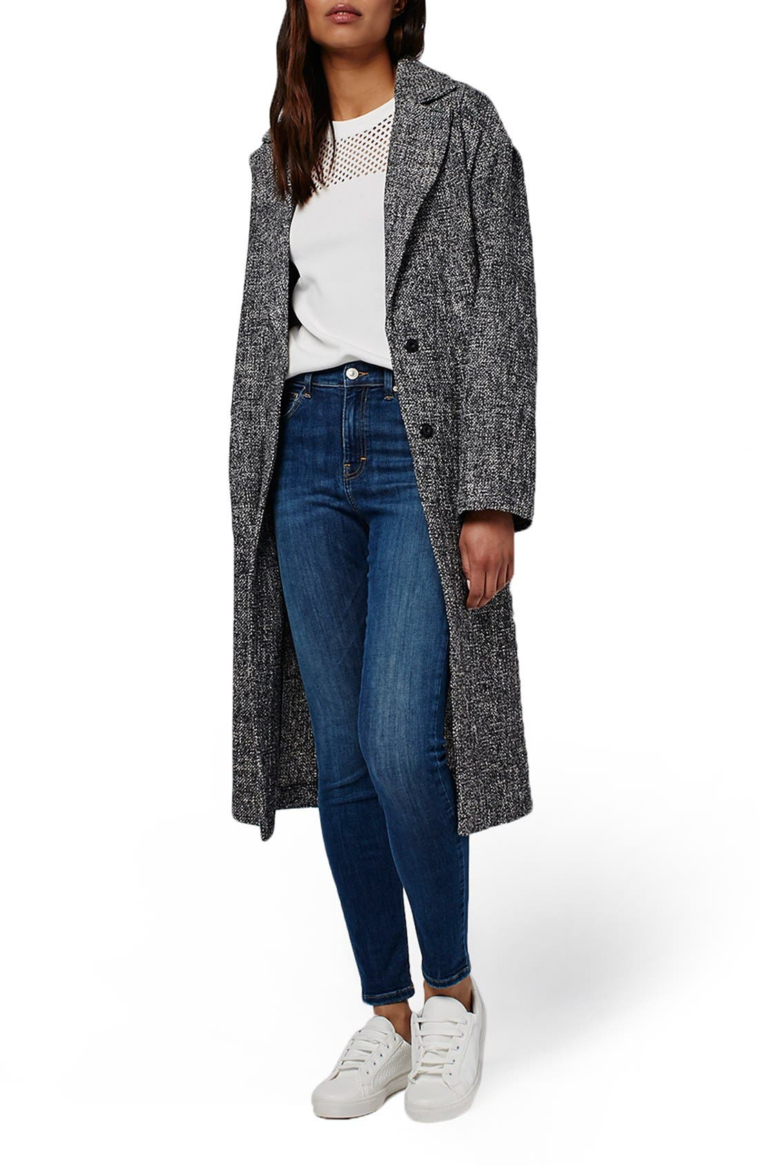 Main Image - Topshop Textured Slouchy Coat