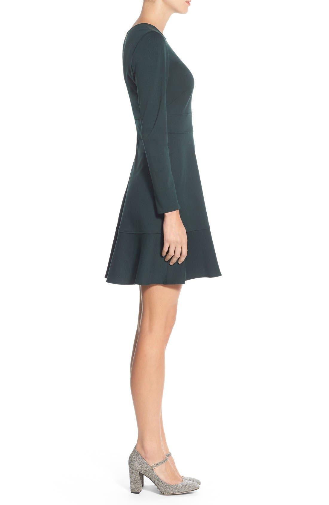 Alternate Image 3  - Eliza J Ruffle Hem Stretch Fit & Flare Dress