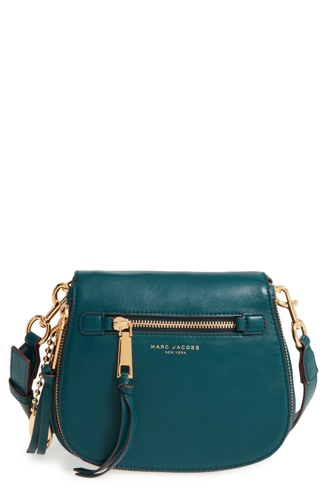 Alternate Image 1 Selected - MARC JACOBS Small Recruit Nomad Pebbled Leather Crossbody Bag