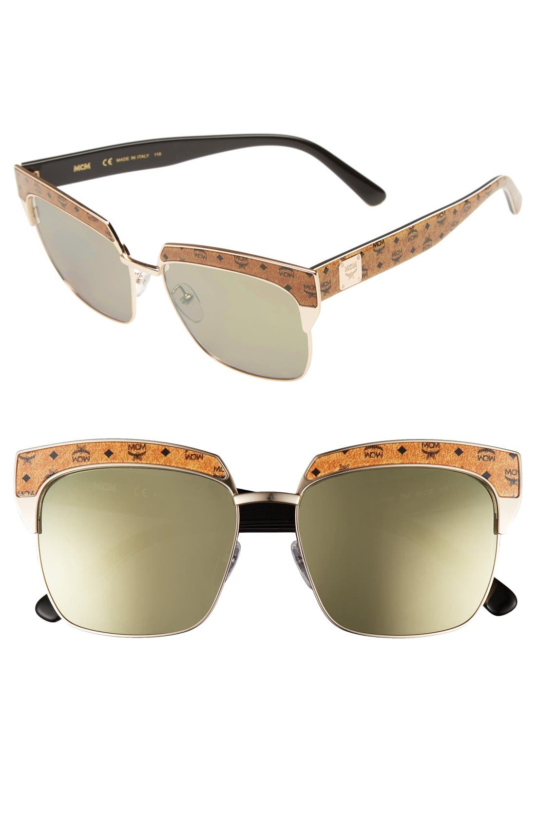 MCM 'Visetos' 56mm Retro Sunglasses