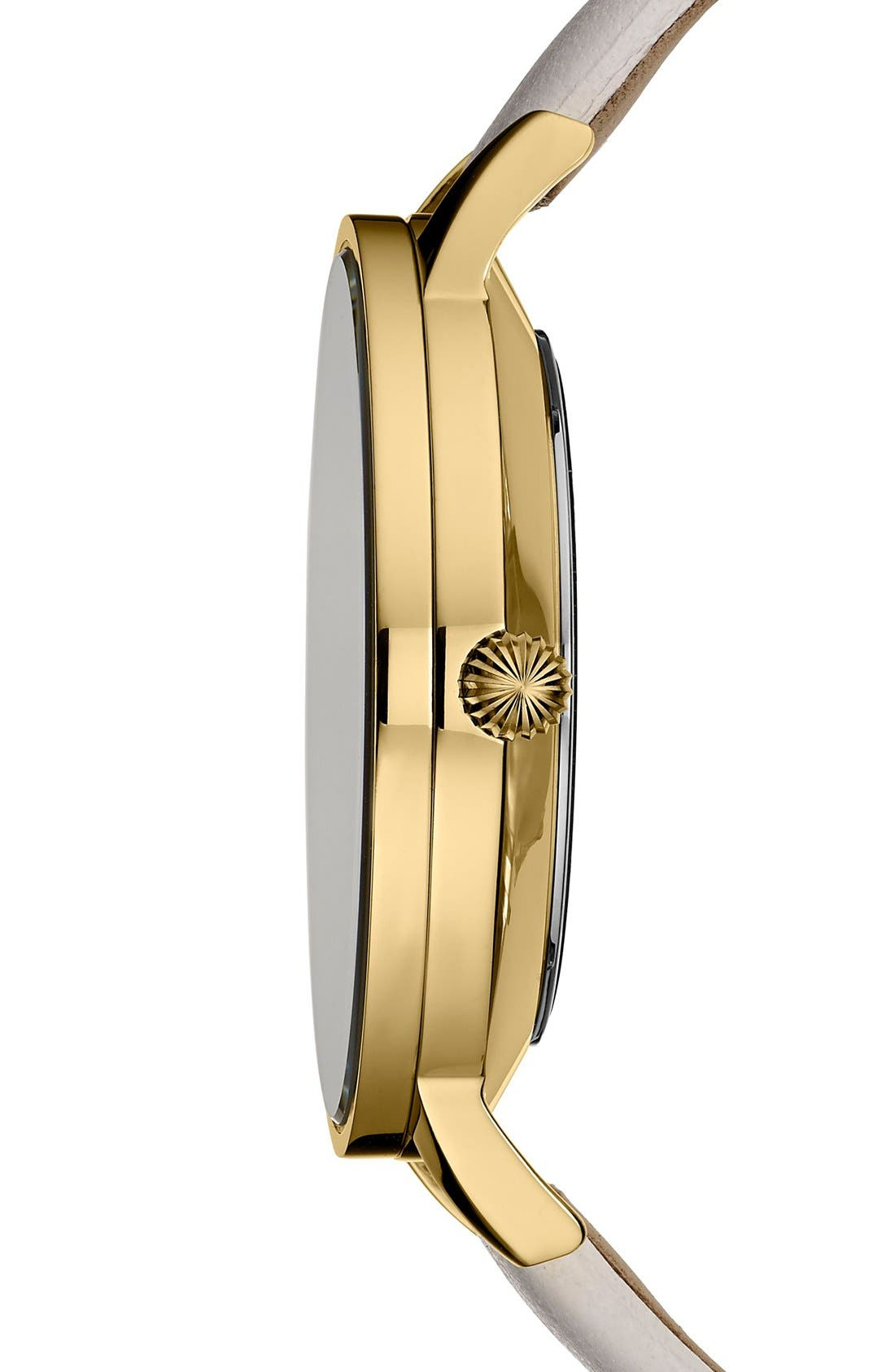 Alternate Image 3  - Ted Baker London Leather Strap Watch, 40mm