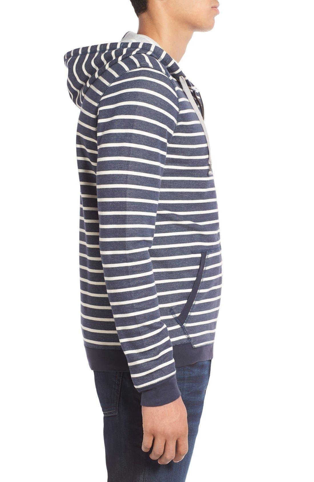 Alternate Image 3  - 1901 'Ashland' Stripe Zip Front Hoodie