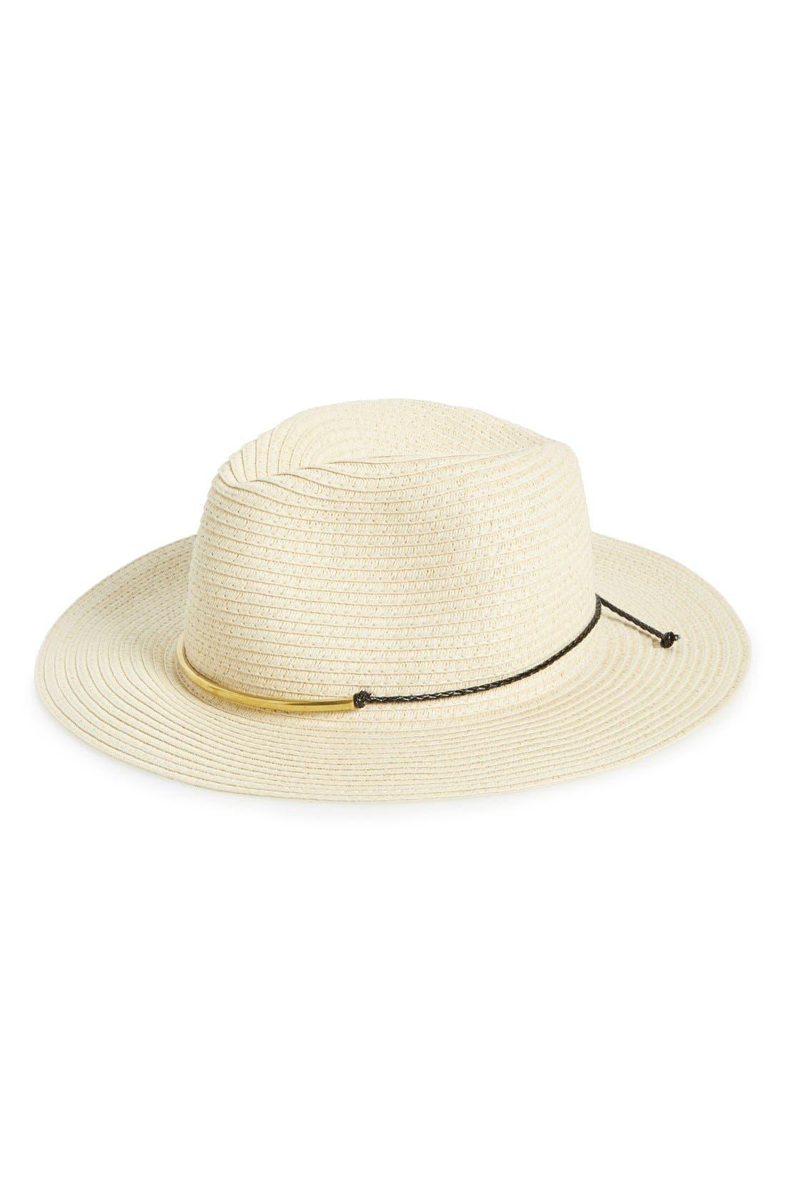 Main Image - Phase 3 Metal Trim Panama Hat