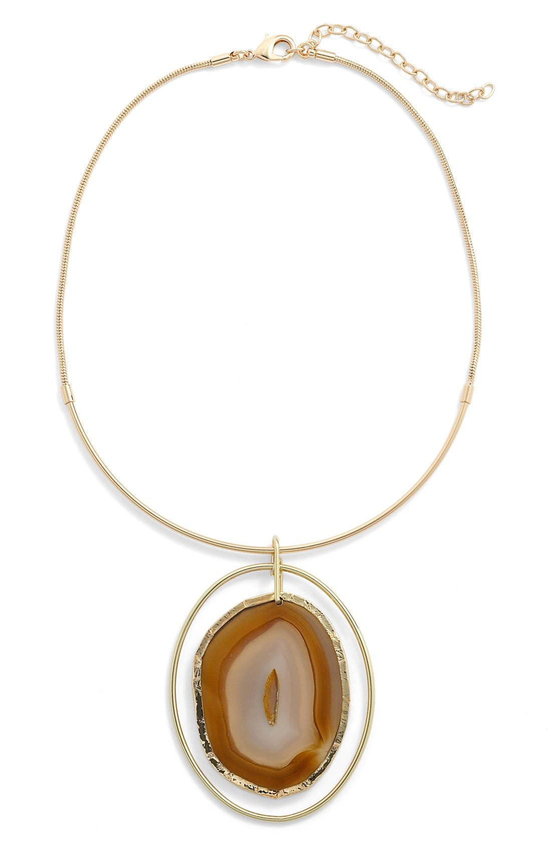 Alternate Image 1 Selected - Nordstrom Agate Collar Necklace