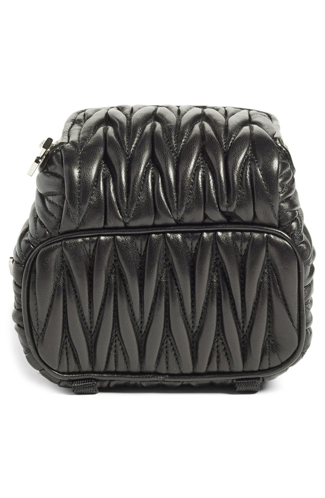 Alternate Image 6  - Miu Miu Micro Matelassé Leather Backpack