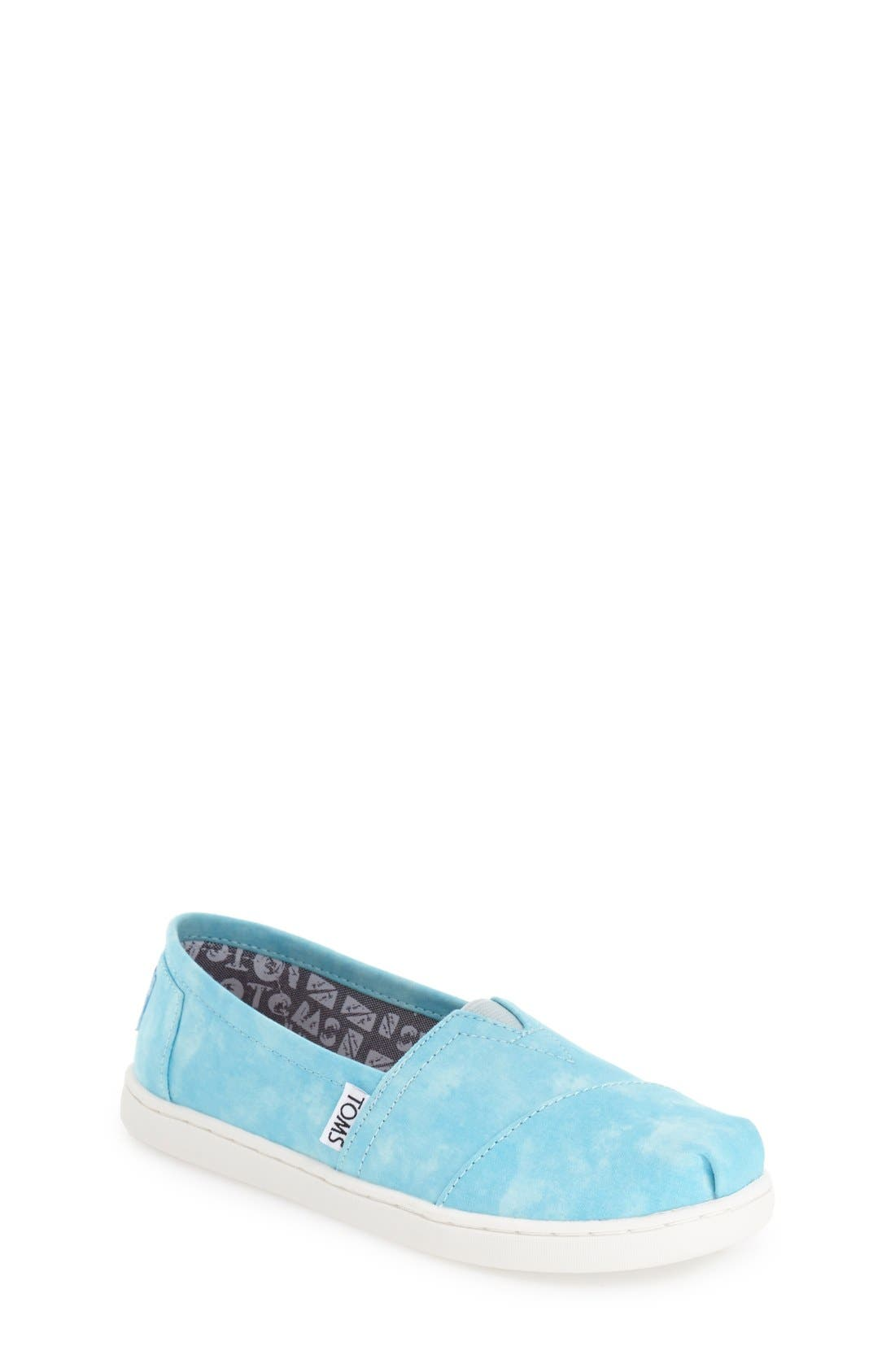 TOMS 'Classic - Tie Dye' Slip-On (Toddler, Little Kid & Big Kid)