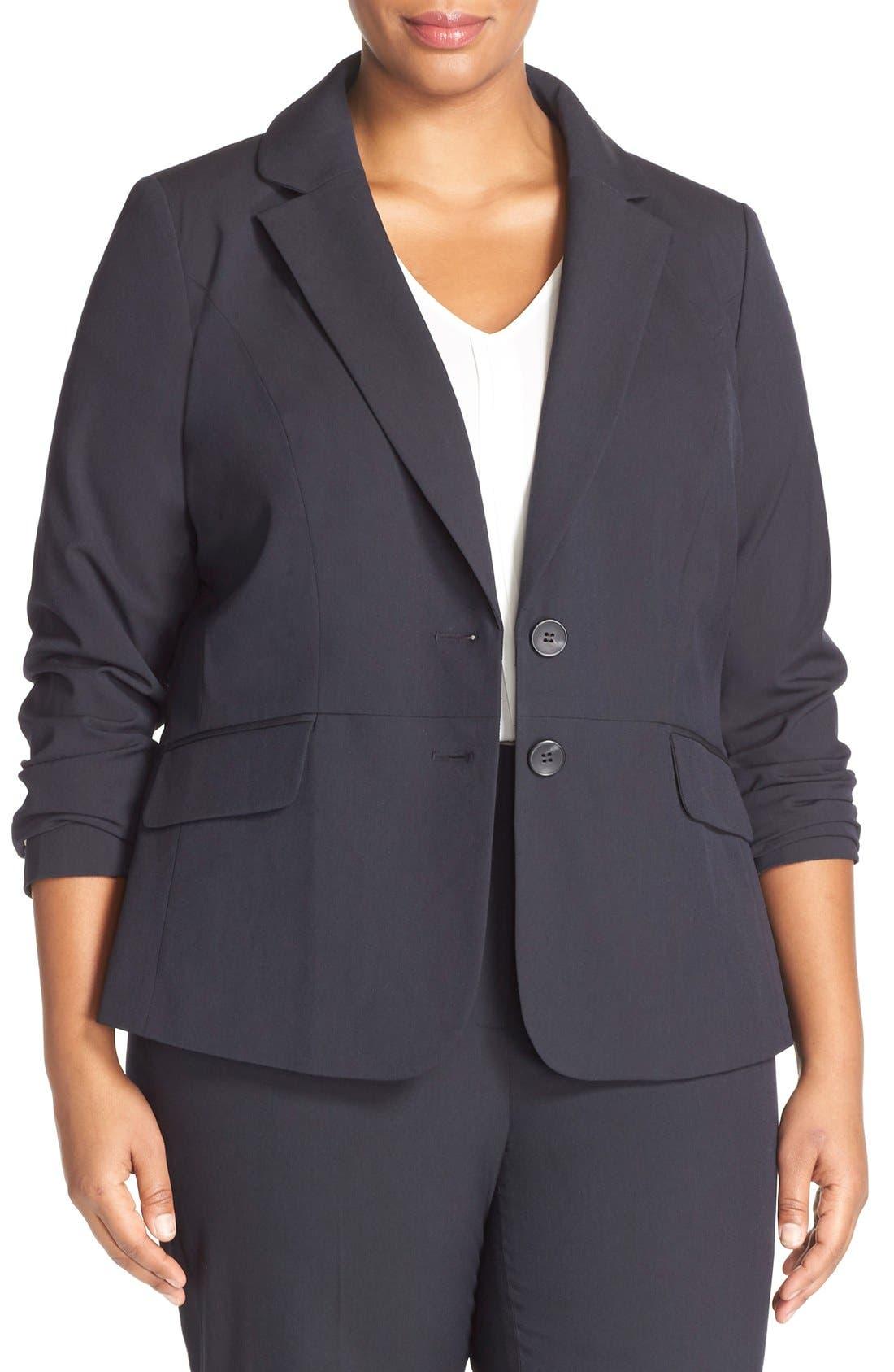 SEJOUR 'Ela Two-Button Stretch Suit Jacket