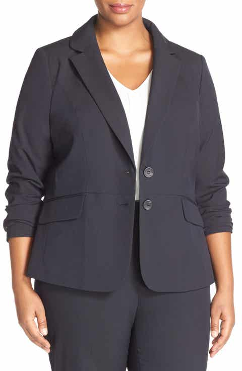 Sejour 'Ela Two-Button Stretch Suit Jacket (Plus Size   Petite Plus)