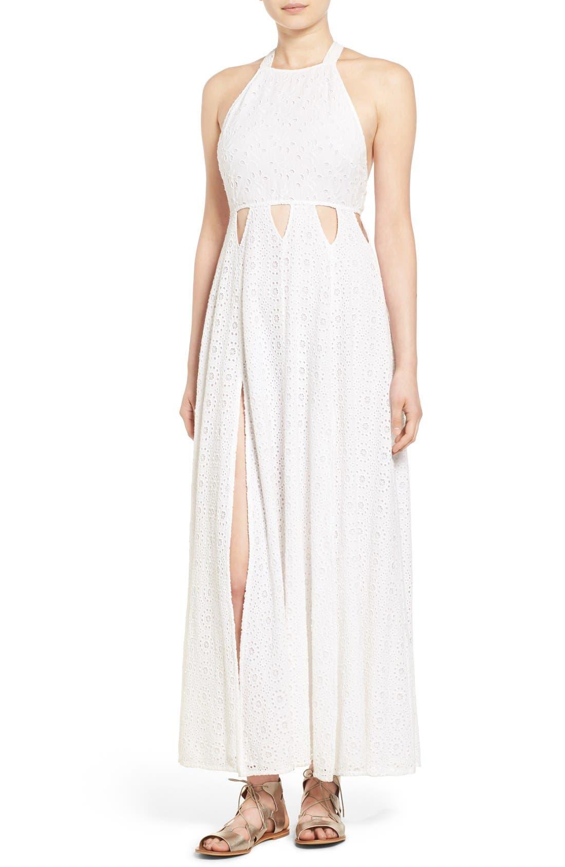 Alternate Image 1 Selected - Tularosa 'Duchess' Cotton Lace Maxi Dress