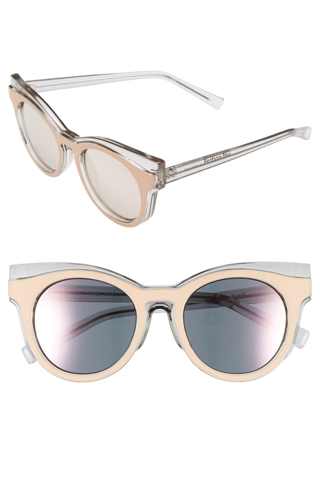 Alternate Image 1 Selected - Le Specs 'Edition Three' 51mm Cat Eye Sunglasses