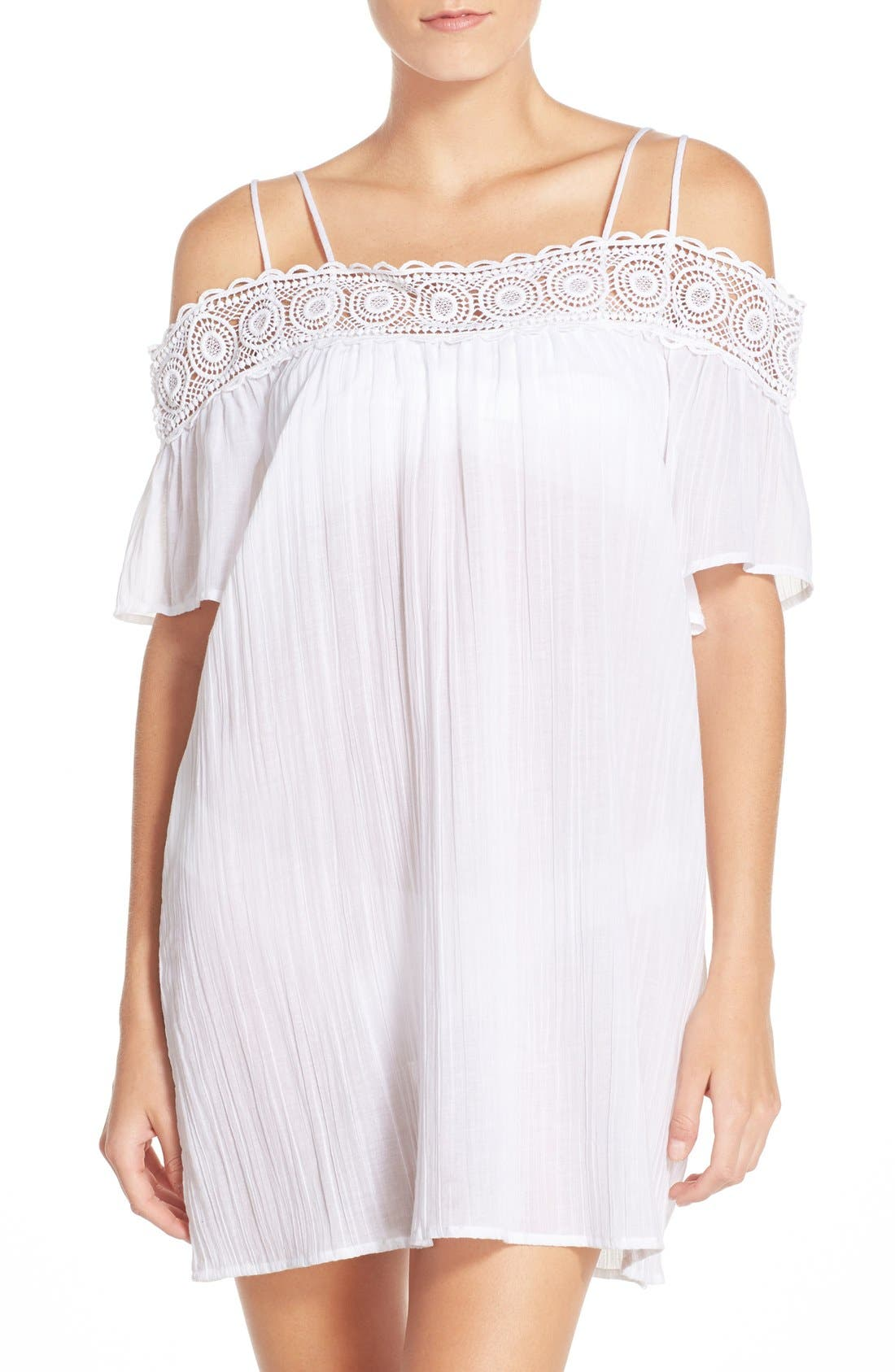 LA BLANCA 'Island Fare' Cotton Cover-Up Slipdress