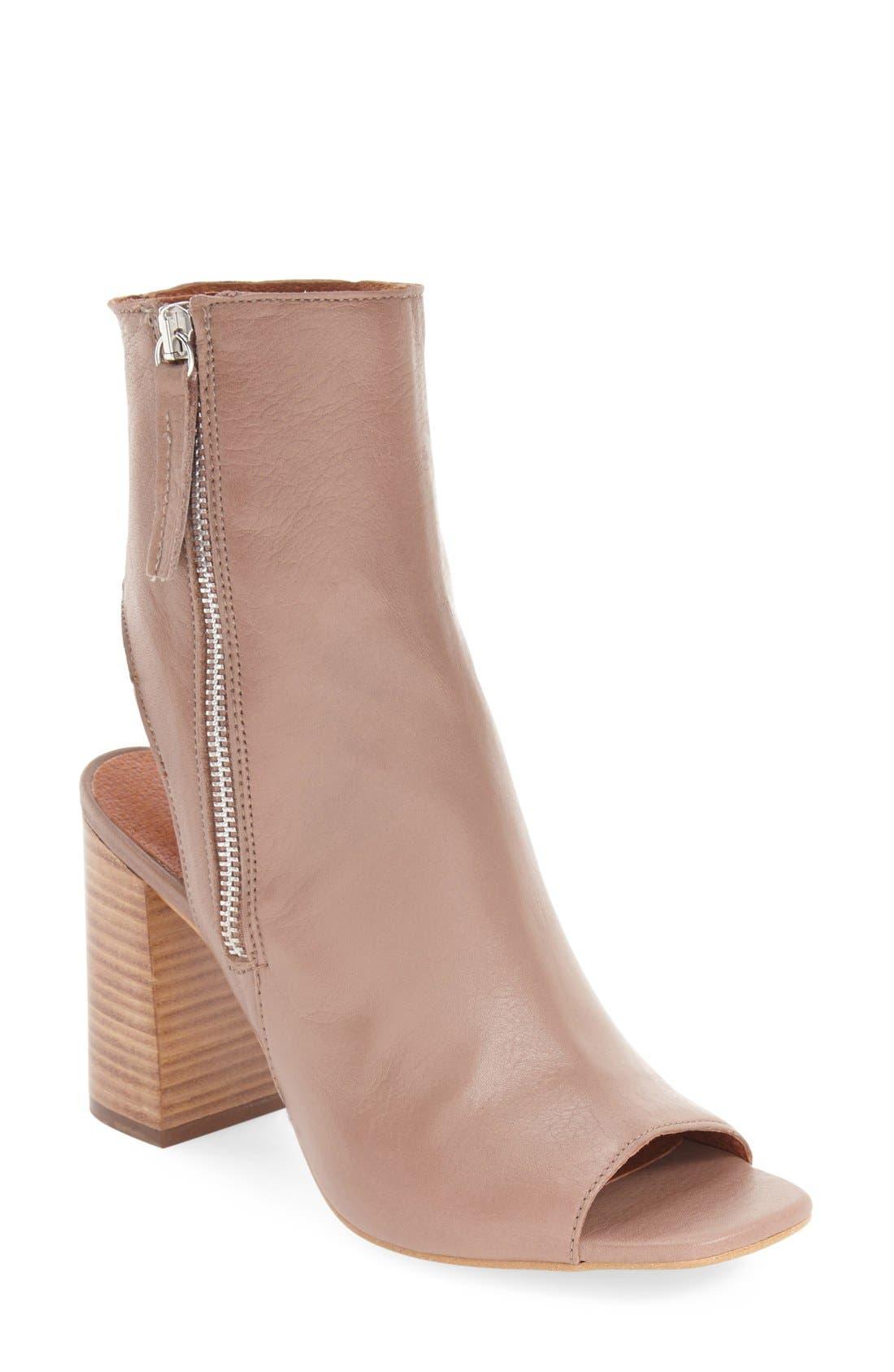 Main Image - Topshop 'Home' Peep Toe Boot (Women)