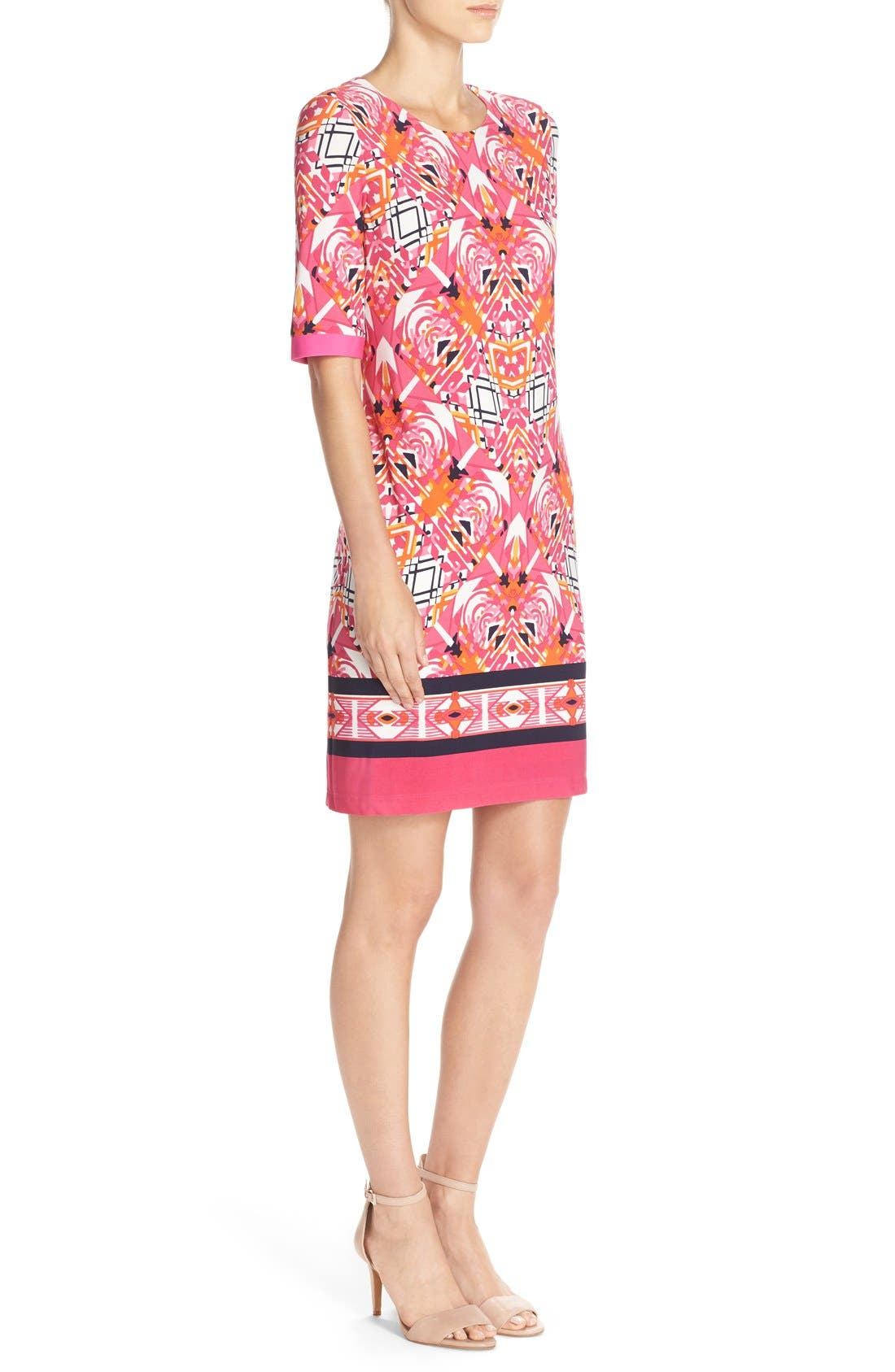 Alternate Image 3  - Eliza J Print Jersey Shift Dress (Regular & Petite)