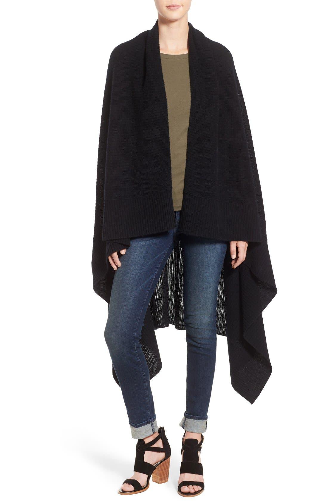 Main Image - Halogen® Rib Knit Cashmere Wrap