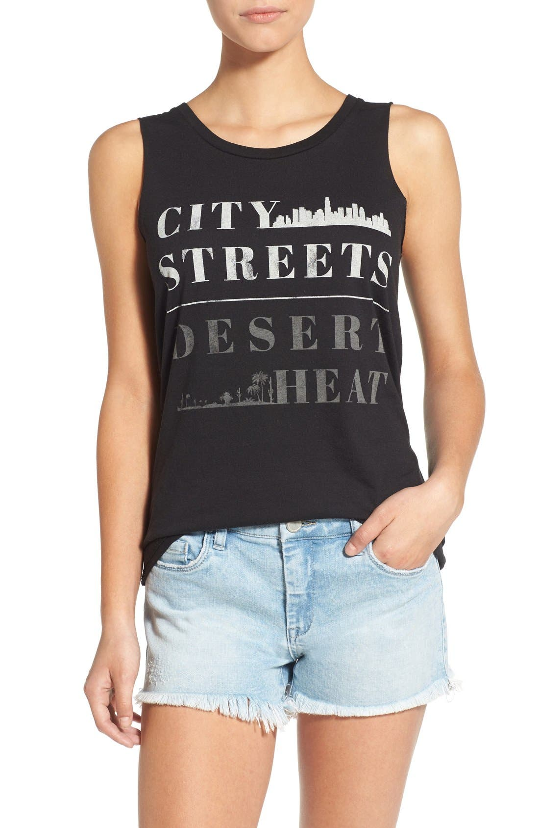 Alternate Image 1 Selected - Element 'City Desert' Graphic Muscle Tank