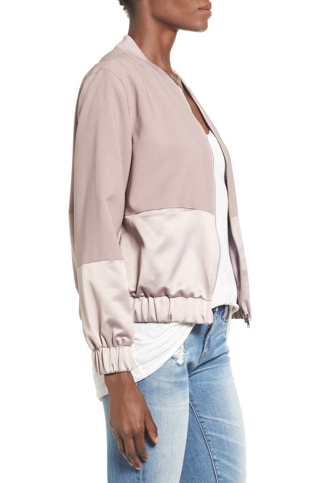 Alternate Image 3  - Missguided Satin & Faux Suede Bomber Jacket
