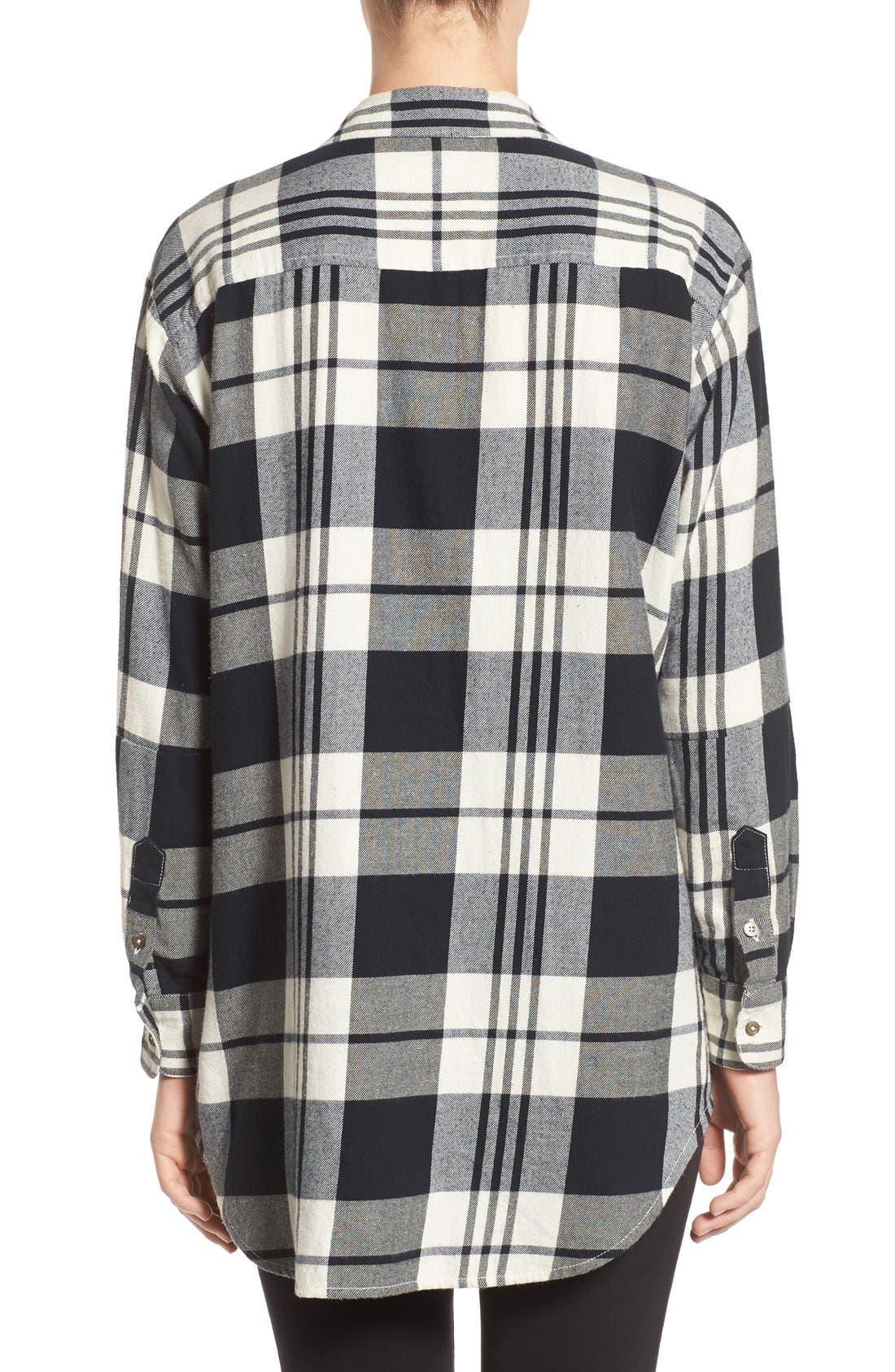 Alternate Image 2  - Madewell 'Ex Boyfriend' Plaid Oversize Cotton Shirt