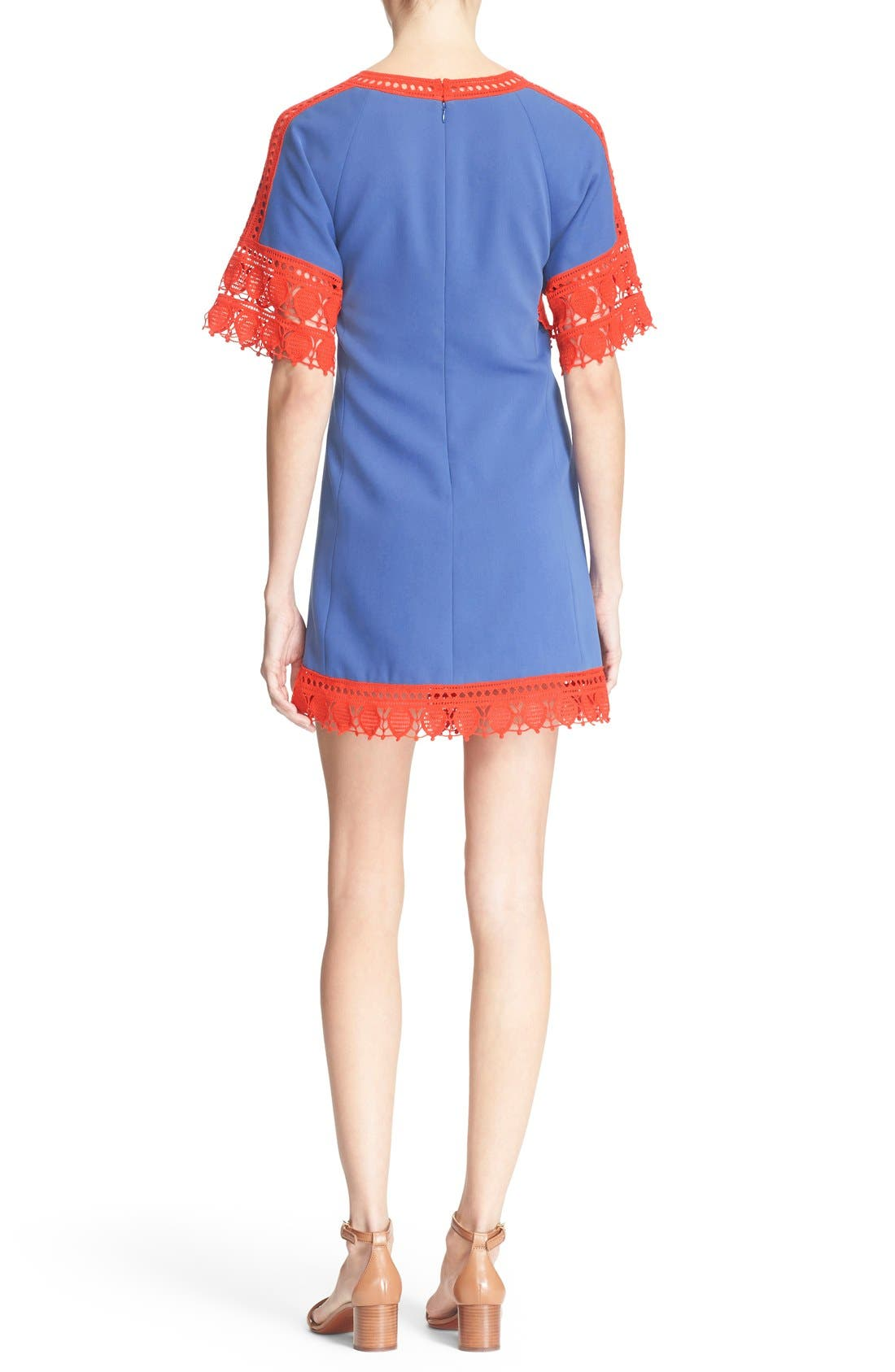 Alternate Image 2  - Tory Burch 'Marissa' Lace Trim Dress