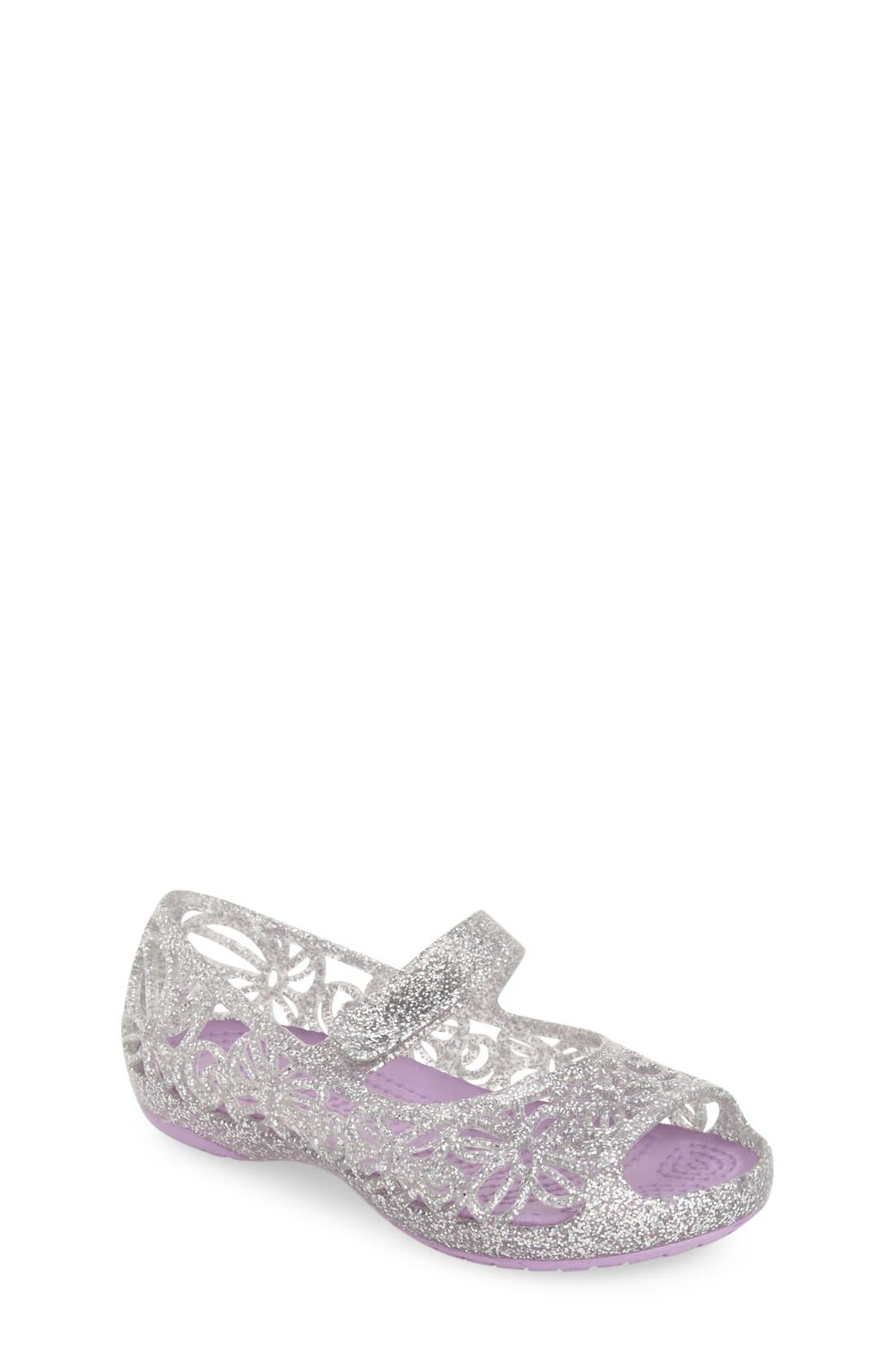 CROCS™ 'Isabella' Jelly Flat (Walker, Toddler, Little Kid & Big Kid)