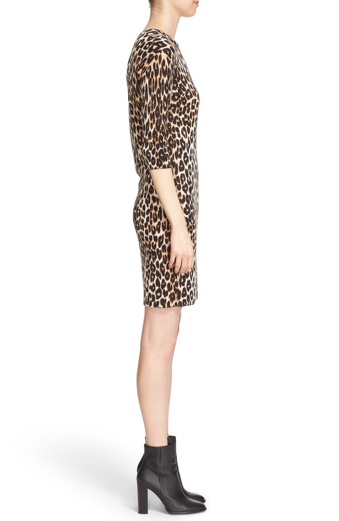 Alternate Image 3  - Equipment 'Marta' Leopard Print Silk & Cashmere Knit Dress