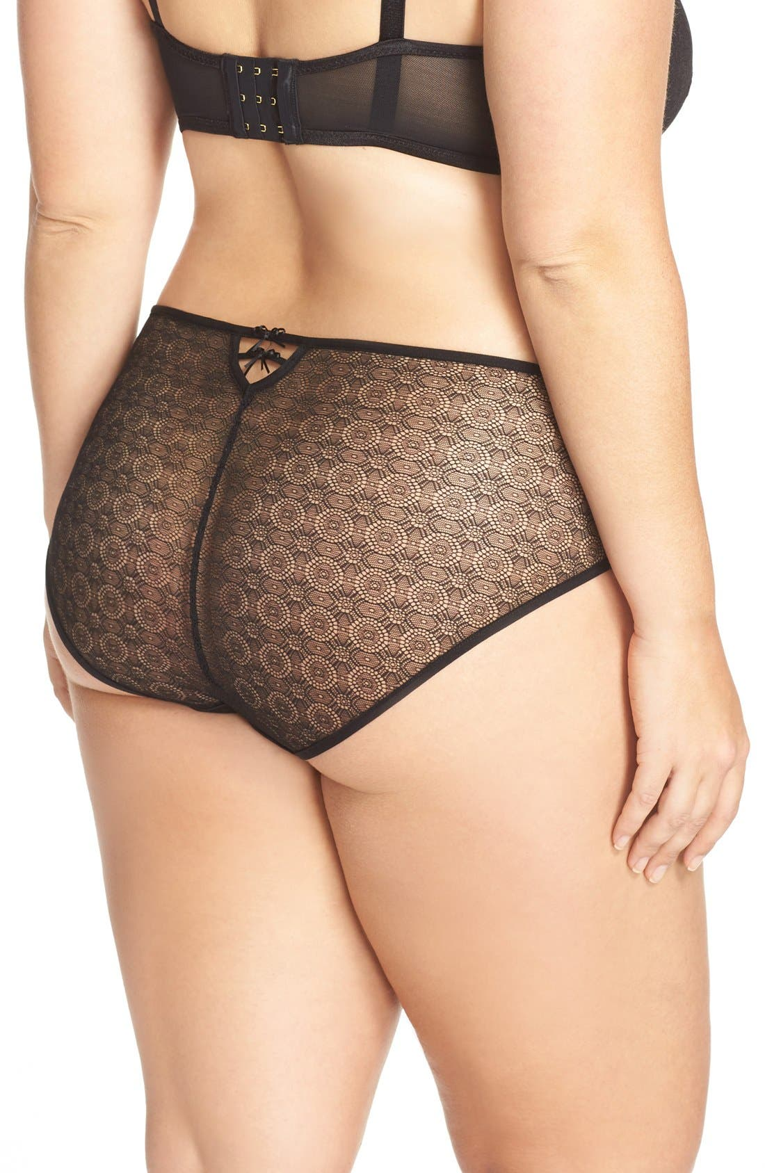 Alternate Image 2  - Ashley Graham 'Diva' Lace Back Briefs (Plus Size)