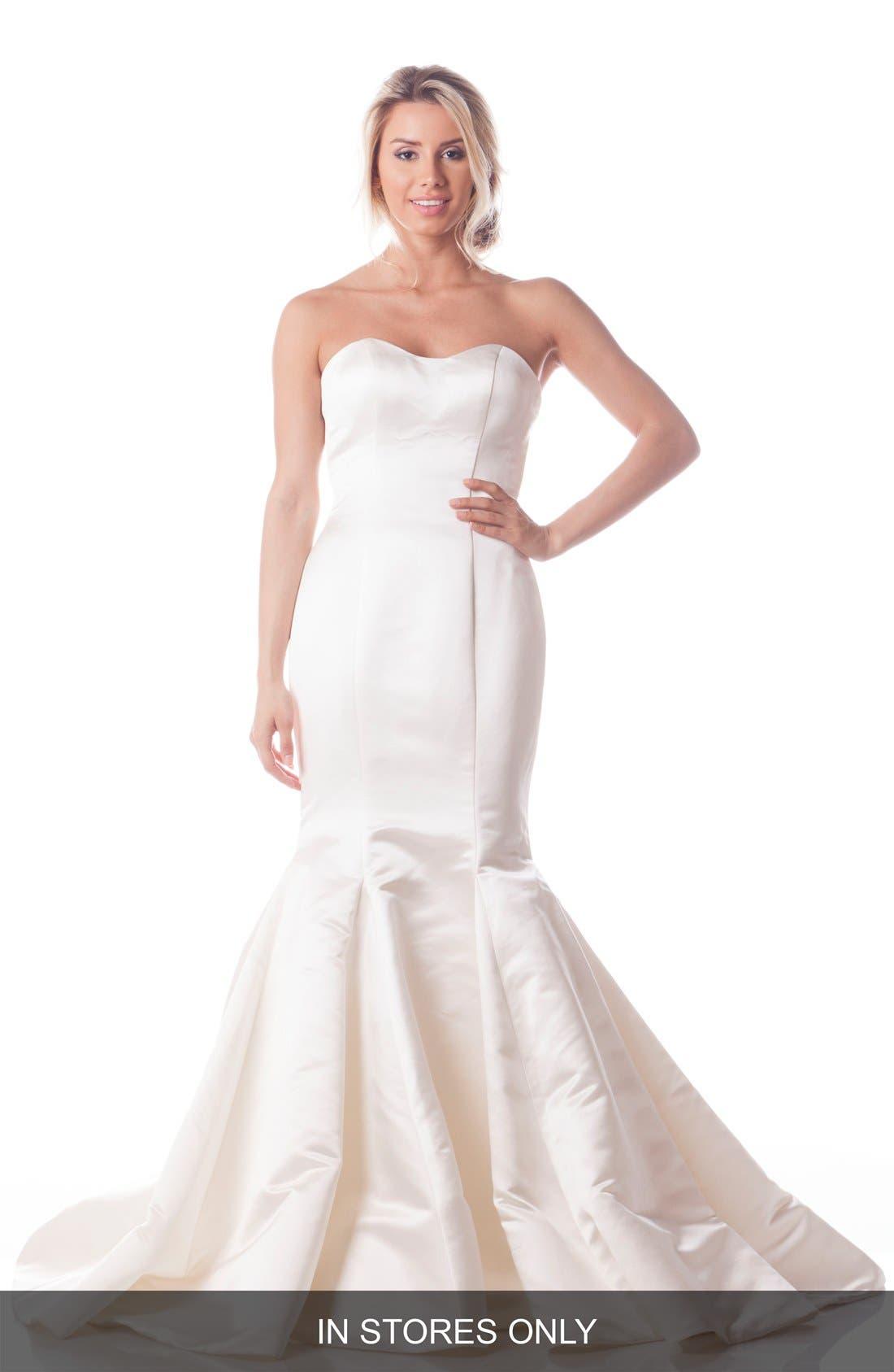 Olia Zavozina Strapless Silk Duchess Trumpet Gown (In Stores Only)