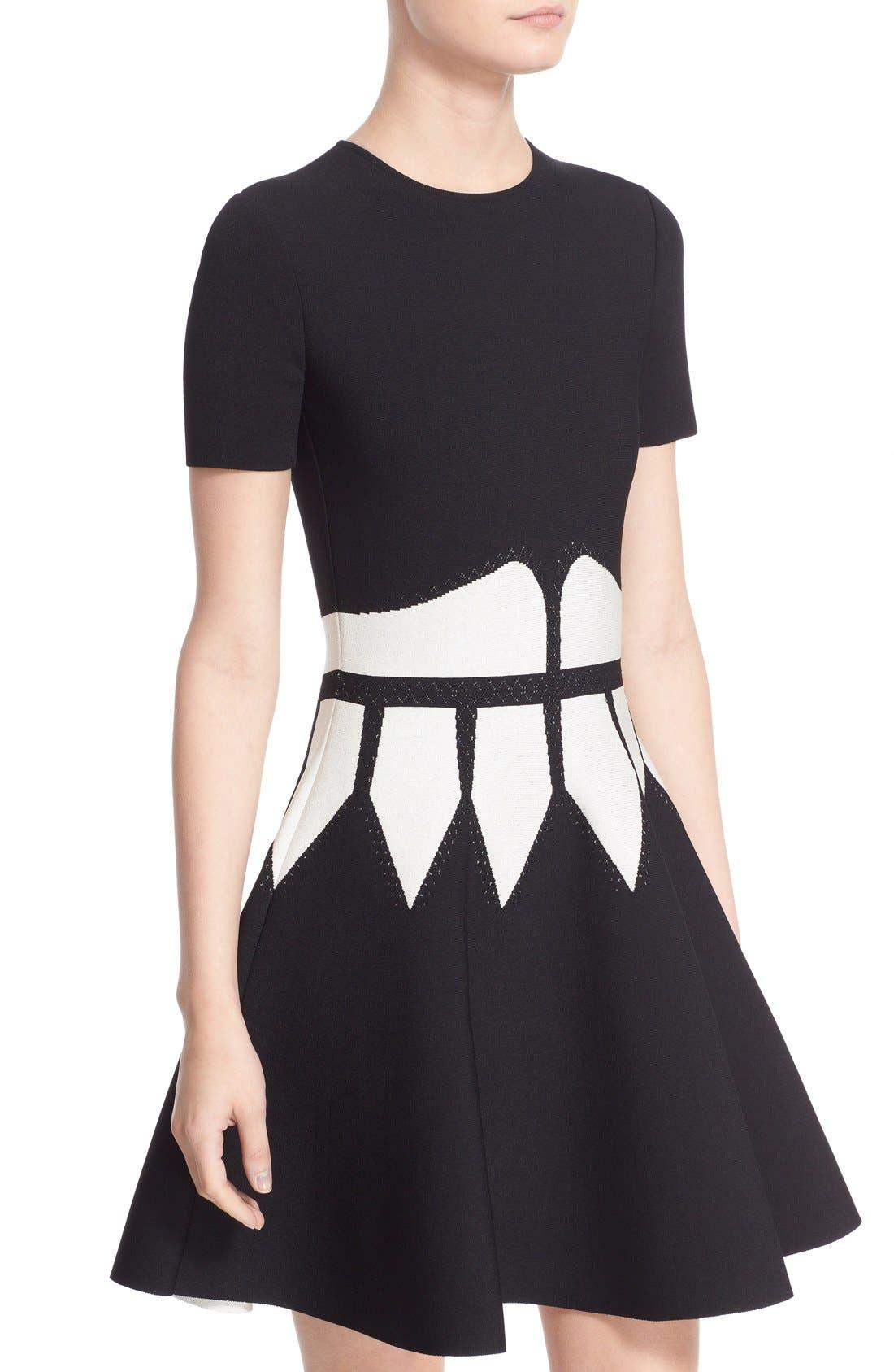Alternate Image 6  - Alexander McQueen Intarsia Knit Fit & Flare Dress
