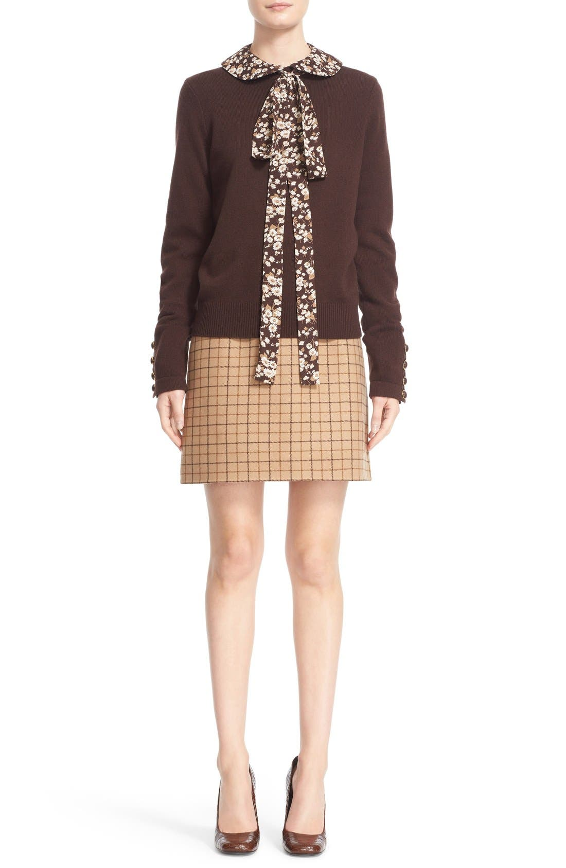 Alternate Image 7  - Michael Kors Plaid Wool A-Line Skirt