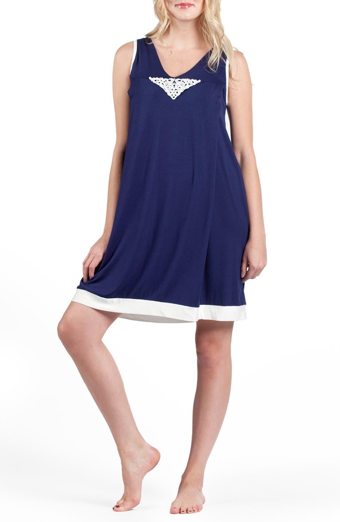 Savi Mom Sleeveless Maternity/Nursing Nightgown