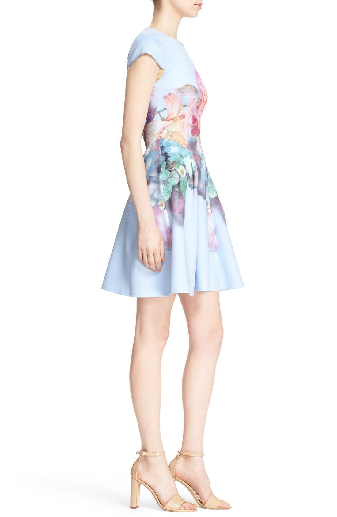 Alternate Image 3  - Ted Baker London 'Bowkay' Floral Print Neoprene Skater Dress