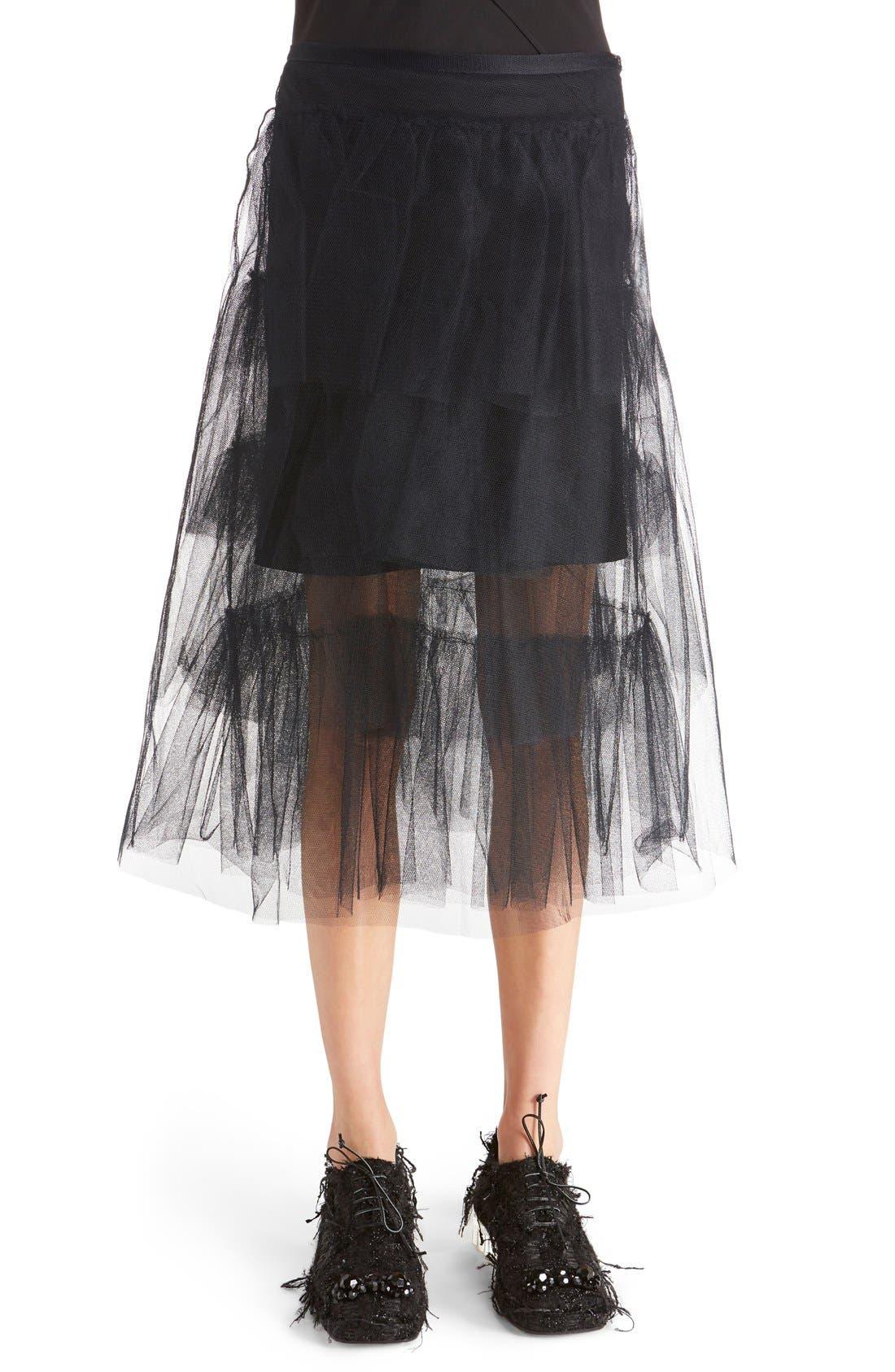 Alternate Image 1 Selected - Simone Rocha Tiered Net Skirt